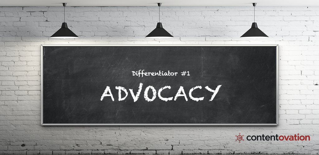 B2B content marketing differentiator – ContentOvation's advocacy
