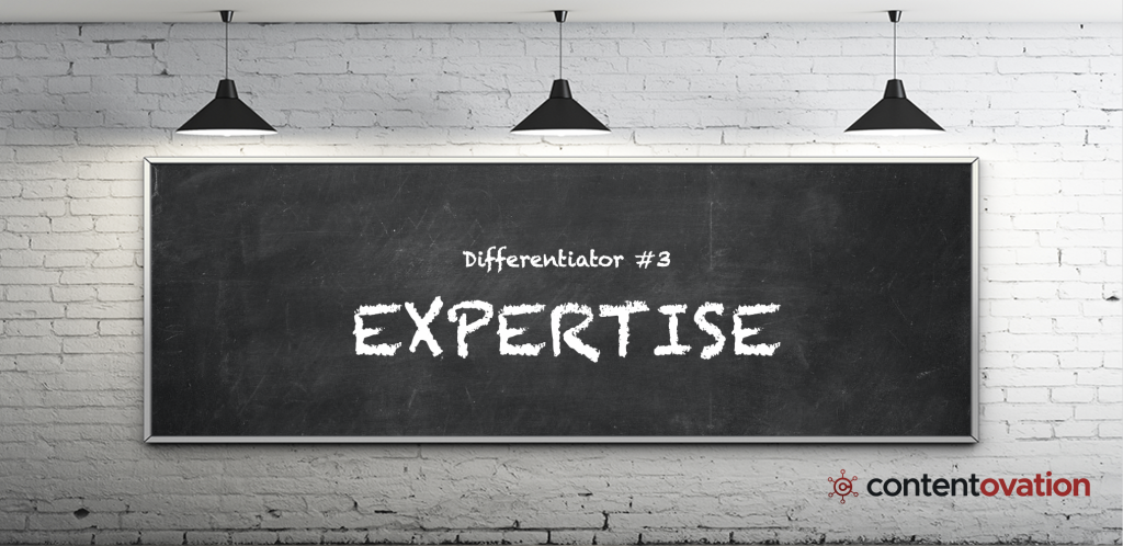 B2B content marketing differentiator – ContentOvation's expertise